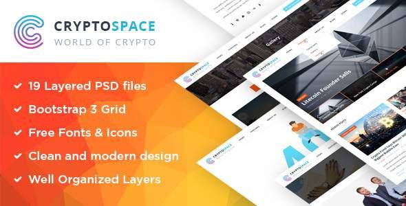 CryptoSpace - Bitcoin Crypto Currency PSD Template            TFx Ibrahim Byron