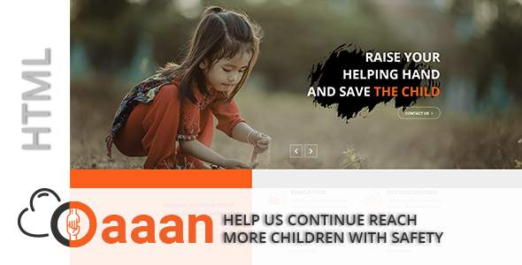 Daaan-Charity and Fundraising HTML5 Template            TFx Kingston Monte