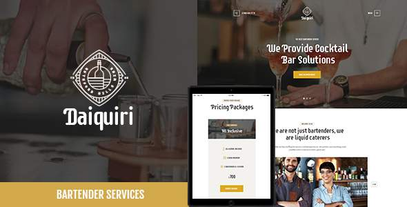 Daiquiri | Bartender Services & Catering WP Theme            TFx Jonty Abel
