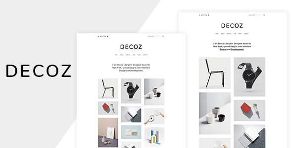 Decoz – Minimal Portfolio & Photography HTML            TFx Keegan Vivian