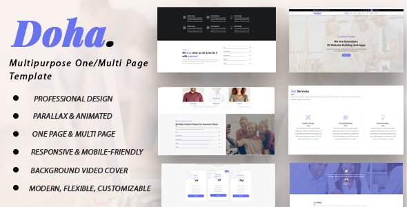 Doha - Multipurpose One/Multi Page Template            TFx Lon Maurice