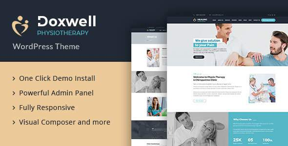Doxwell : Physical Therapy WordPress Theme            TFx Tirto Eliott