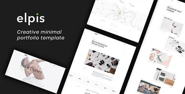 Elpis - Creative Minimal Portfolio Template            TFx Naoki Onangwatgo