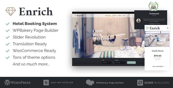 Enrich – Hotel Booking WordPress Theme            TFx Sydney Kennedy