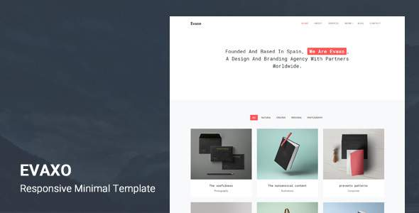 Evaxo - Responsive Minimal Template            TFx Lacey Lee