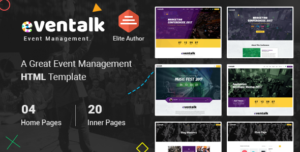 EventTalk - Event & Conference HTML Template            TFx Chauncey Barclay