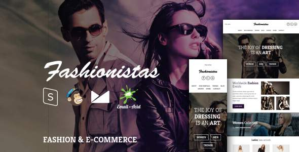 Fashionistas - Responsive Email Template with MailChimp Editor, StampReady & Online Builder            TFx Lanford Benson
