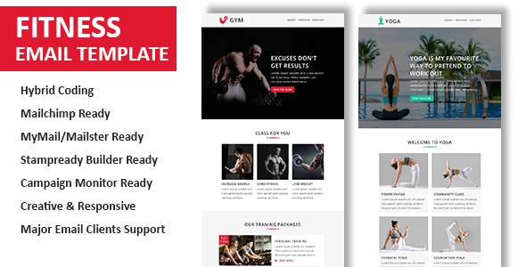 Fitness - Multipurpose Responsive Email Template with Stamp Ready Builder Access            TFx Kim Jeremy