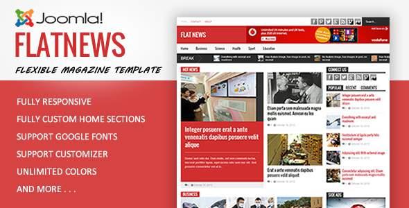 FlatNews - Magazine Joomla Template            TFx Kelvin Takehiko