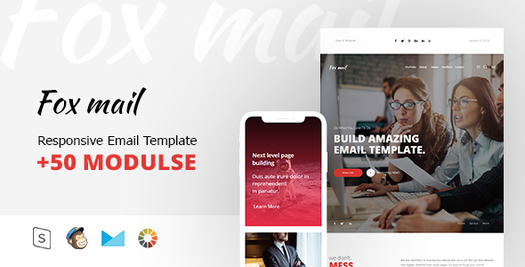Fox mail - Responsive Email Template Minimal            TFx Winton Kelcey