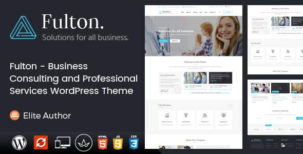 Fulton – Business Consulting WordPress Theme            TFx Burke Clint