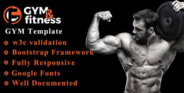 GYM & FITNESS | One Page Responsive HTML5 Gym Template            TFx Kenrick Crawford