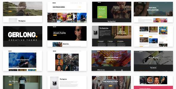 Gerlong - Responsive One Page & Multi Page Portfolio Theme            TFx Read Kaoru