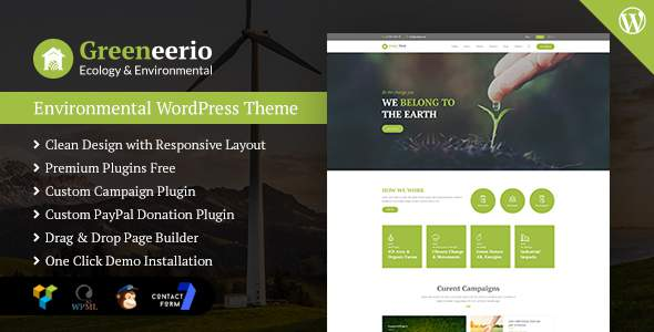 Greeneerio – WordPress Ecology & Environmental Theme            TFx Ross Kyo