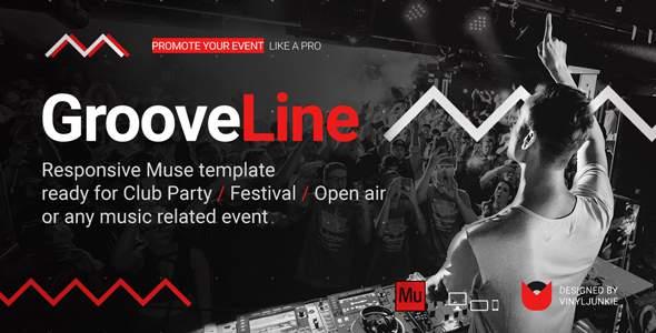 GrooveLine - Music Event / Festival / DJ Party Responsive Muse Template            TFx Derren Cat