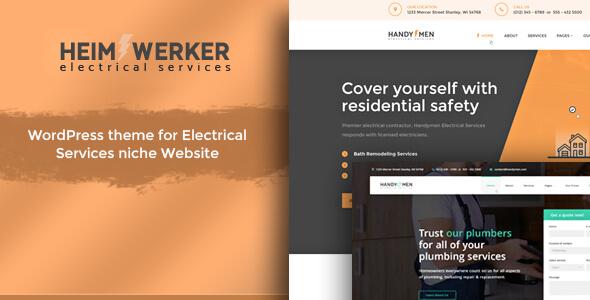 Heimwerker – Electricity Services WordPress Theme            TFx Citlali Wayne