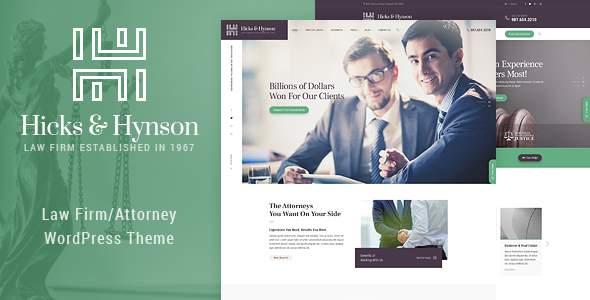 Hicks & Hynson - Law Firm/Attorney  WordPress Theme            TFx Spartacus Goddard