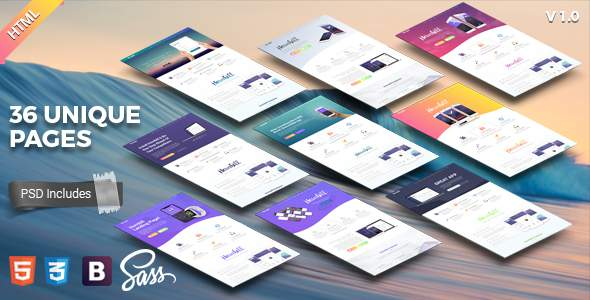 Hornbill || Responsive App Landing Page            TFx Burt Nikolas