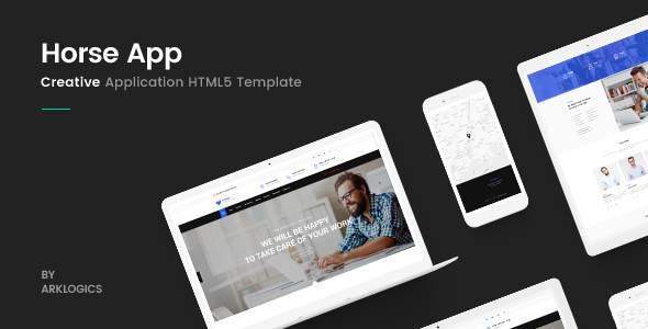 Horse App - HTML Responsive Template            TFx Stan Gray