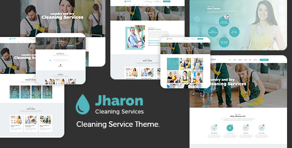 Jharon - Cleaning Service WordPress Theme            TFx Jezza Gerry