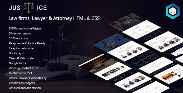 Justice - Law firms, Lawyer & Attorney HTML5 & CSS3 Template            TFx Sean Kevork