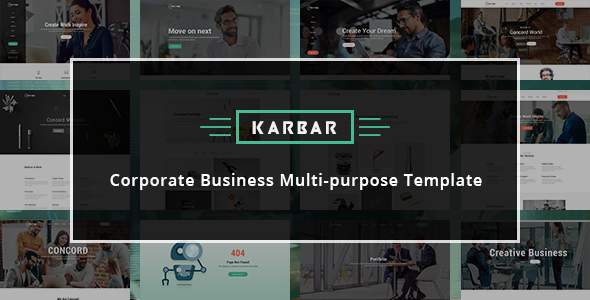 Karbar - Multipurpose Bootstrap4 Template            TFx Glen Kiaran