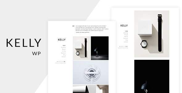 Kelly – Minimal Portfolio & Photography WordPress Theme            TFx Gale Red