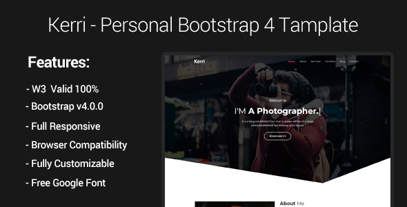 Kerri - Responsive Bootstrap 4 Personal Template            TFx Henry Loyd