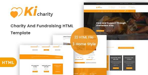KiCharity - Charity & Fundraising HTML Template            TFx Jordan Taufik