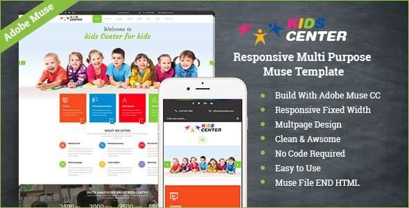 Kidcenter - Responsive Multipurpose Muse Template            TFx Gladwyn Darrell