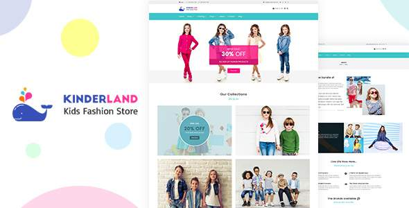 Kinder land - Kids Fashion Store Shopify Theme            TFx Paden Reginald