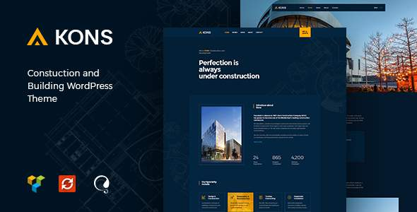 Kons – Construction and Building WordPress Theme            TFx Zarathustra Finnegan