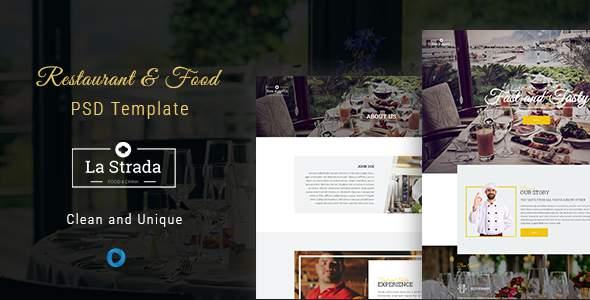 La Strada - Restaurant, Food & Chef PSD Template            TFx Grey Rylan