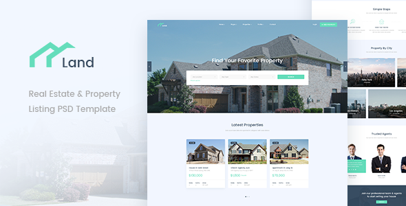 Land - Real Estate & Property Listing PSD Template            TFx Baxter Hammurabi