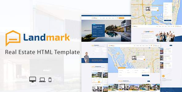 Landmark – Real Estate HTML Template            TFx Zavier Benj