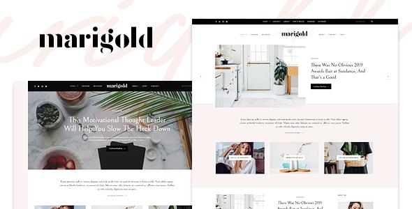 Marigold - A WordPress Blog & Shop Theme            TFx Cade Zac