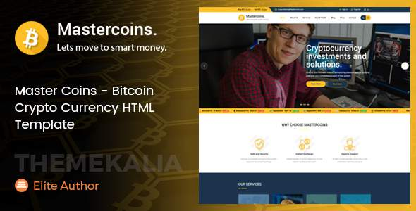 Master Coins - Bitcoin Crypto Currency HTML Template            TFx Carson Timothy