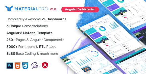 MaterialPro Angular 5+ Admin Template            TFx Perry Norm