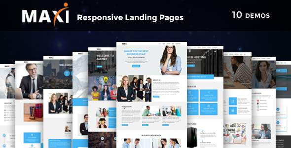 Maxi - Multipurpose Responsive HTML Landing Pages            TFx Coleman Wilf