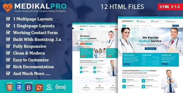 MedikalPro - Health & Medical Responsive HTML5 Template            TFx Kisecawchuck Victor