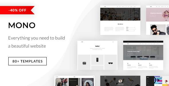 Mono - Creative Multi-Purpose Template            TFx Hiram Gladwin