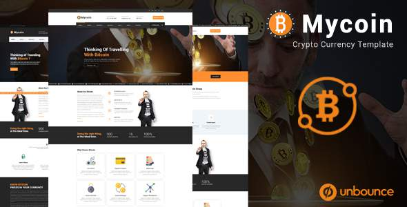 MyCoin - Bitcoin Crypto Currency Unbounce Template            TFx Deforest Sequoyah