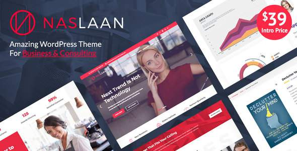 Naslaan Multi-Purpose Business & Consulting WordPress Theme            TFx Connor Levon
