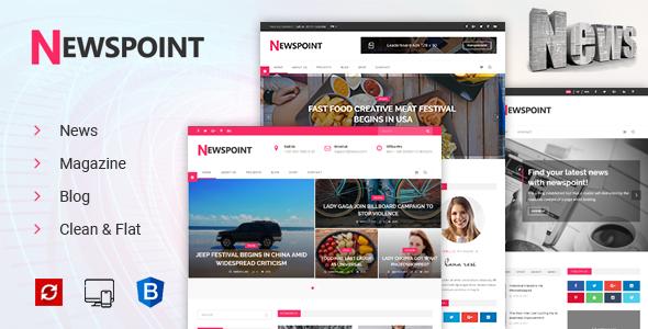 Newspoint - News, Magazine & Blogging HTML Template            TFx Jaiden Sora