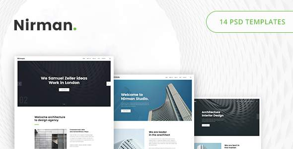 Nirman – Architecture PSD Template            TFx Hovo Kazuo