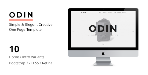 ODIN - Simple & Easy Creative One Page Joomla Template            TFx Fulk Alfie