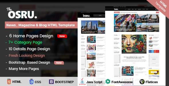 OSRU - News, Blog & Magazine HTML Template            TFx Ari Elijah