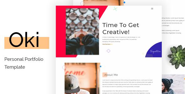 Oki - Creative Landing Page Html 5  Theme            TFx Merv Galen