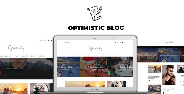 Optimistic Blog -Clean  HTML Blog Template            TFx Darrin Norm