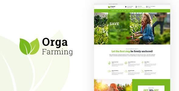 Orga - Food Farming WP Theme            TFx Derick Nazaret
